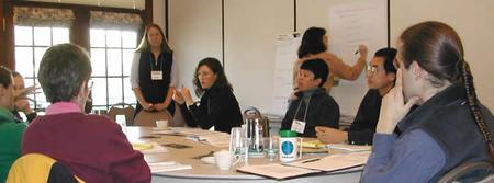 Workshop participants discuss the role of biocomplexity in the earth science curriculum