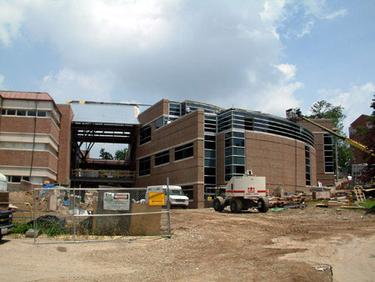 Barbara Deer Kuss Science Building at Wittenberg University during construction