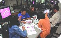 photo of students engaged in active learning