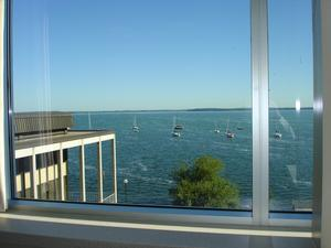 View of Lake Monona from the Pyle Center