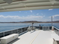 Deck of boat on Lake Mead