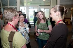 Participants talking during break at Career Prep 2011 workshop