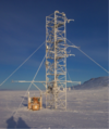 Meteorological data collection tower