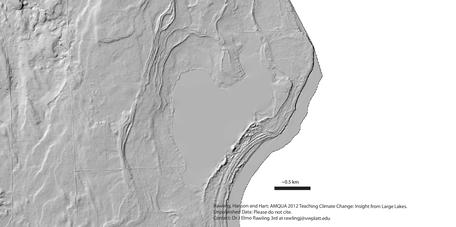 Blank LiDAR-based hillshade of Europe Lake.