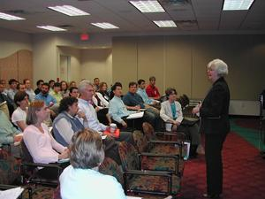 Dr. Marge C. welcomes 2006 Early Career workshop participants to NSF