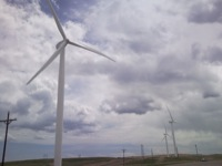 Wind turbine at Happy Jack 1