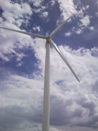 Wind turbine at Happy Jack 2