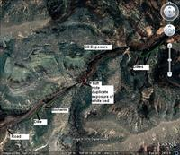 Annotated study area image from Google Earth