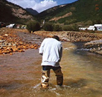 Stream sampling in the Animas River
