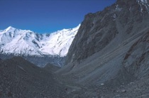 Fig. 3 Lateral moraine valley Pumari Chhish glacier