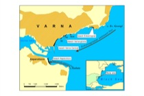 Locator map of Varna Bay