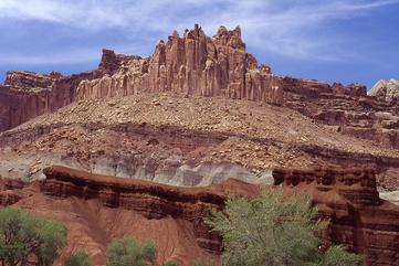 Sedimentary sequence in Capitol Reef National Park