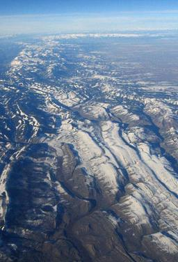 Aerial view of the ID/WY thrust belt