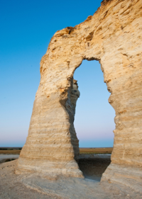 Keyhole Arch, Monument Rocks, Kansas