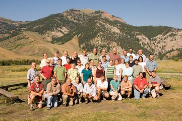 Group photo of workshop participants for Teaching Geophysics