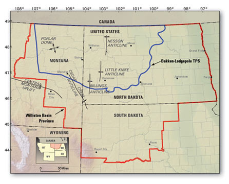 Map of Williston Basin