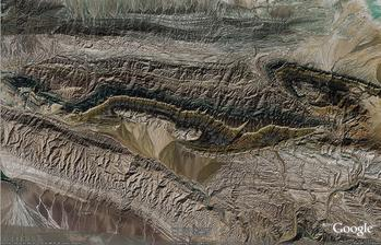 Tian Shan, China, overturned fold