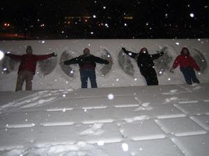 Photo of participants making snow angels