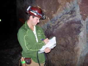 Photo of an FLC undergraduate student in Field Geology