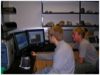 Students using the FCAEM microprobe in class