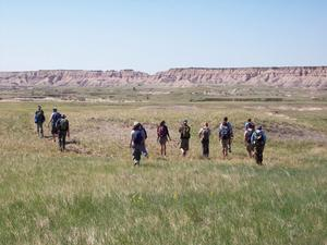 Students visit Hay Butte, Badlands National Park