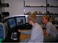 USF students operating the FCAEM microprobe remotely