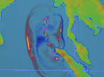 NOAH animation of 122604 tsunami.  Hemispheric view.