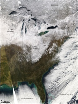 Blanket of Snow Eastern USA