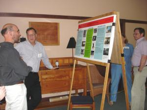 participants viewing posters