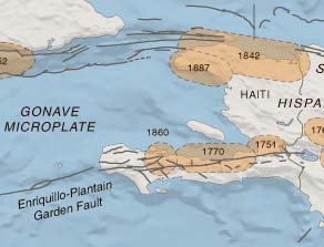 Map of Haiti seismicity