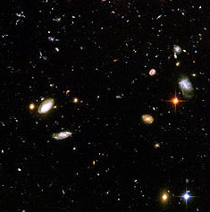 Portion of Hubble Ultra Deep field