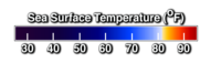 Sea surface temperature color bar