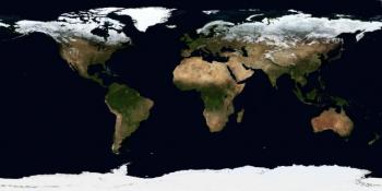 The Earth from space shown as a composite satellite image