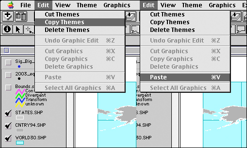 Copy and paste themes in a view