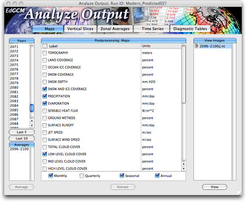 analyze output window map selects