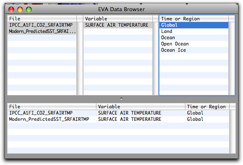 EVA data browser with temperature selected v2