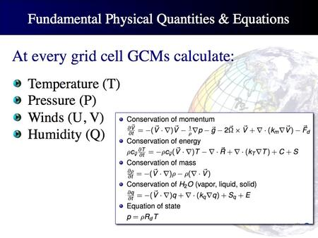 GCM equations