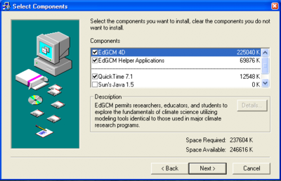 windows install components