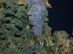 Hydrothermal chimney at Mariner