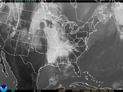 Infrared GOES image of the 48 contiguous states.