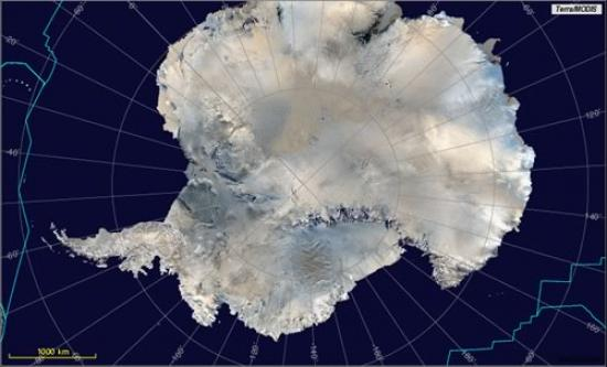 Antarctica as viewed by MODIS