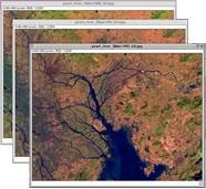 Thumbnail of three satellite images
