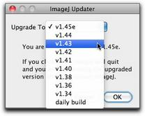 ImageJ Updater Window Options
