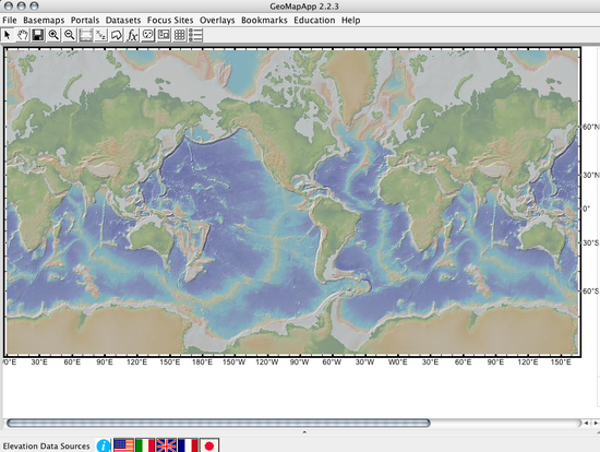 Whole view of GeoMapApp