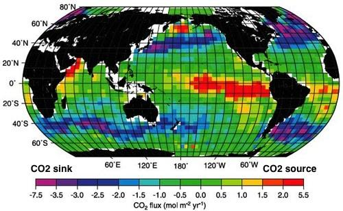 Ocean CO2 Flux  Credit: IPCC 2007