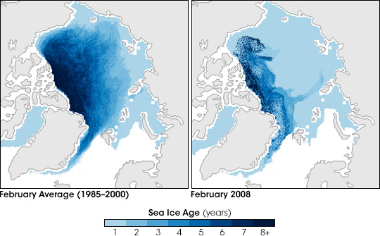 Arctic Sea Ice Age Comparison