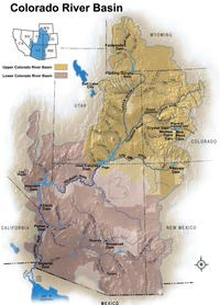 Colorado river basin dams
