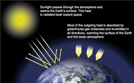 Greenhouse Effect Schematic NASA