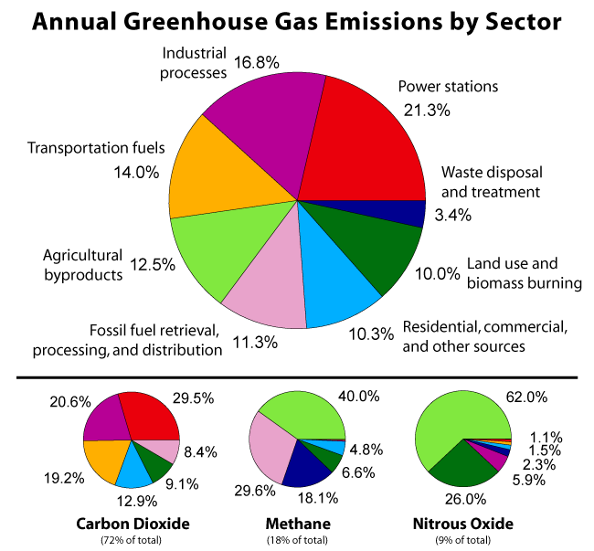 Greenhouse gases by sector