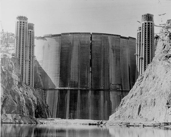 Hoover Dam Intake Towers 1935